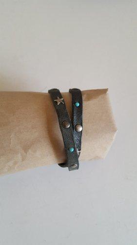 A.S.98 Bracelet en cuir bleu pétrole cuir