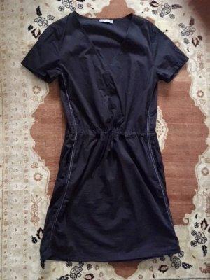 Aust Robe noir-gris clair coton