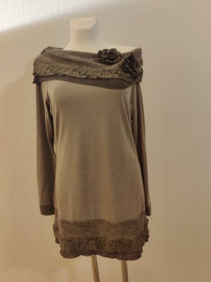 Linea Tesini Koszula typu carmen taupe