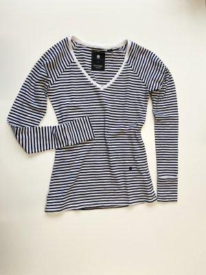 G-Star Raw Koszulka w paski Wielokolorowy Tkanina z mieszanych włókien