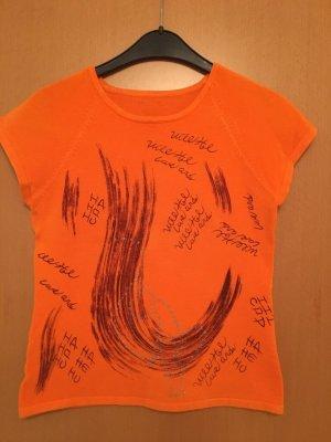 Cooles Print sehr fein Strick Shirt. Wie NEU