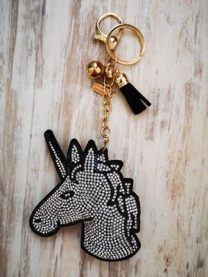 cooles Schlüssel -/Taschenanhänger Einhorn Strass glitzer NEU!