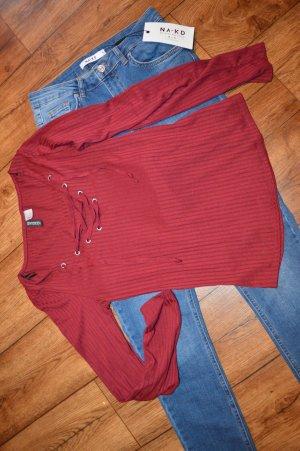 Cooles Shirt H&M mit Schnürung 38
