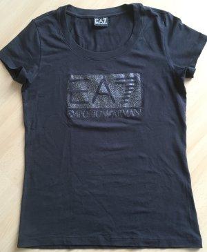 Armani Exchange T-shirt ciemnoszary-czarny Bawełna
