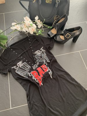 Sheinside Shirt Dress black-red