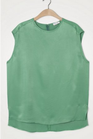 American Vintage Top koszulowy zielony Wiskoza