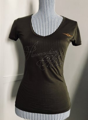 Aeronautica Militare T-shirt khaki-brons Lyocell