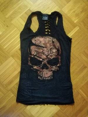 Cooles Totenkopf-Shirt mit Glitzer