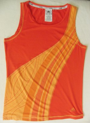 Cooles TRÄGER-TOP, Sportshirt, Tank-Top von ADIDAS..leicht und luftig..orange..Größe DE 36/38