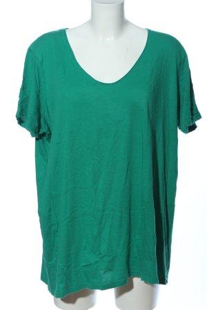 Triangle V-Neck Shirt green cotton
