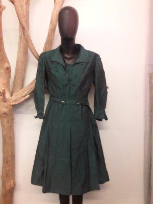 Vestido con enagua verde-verde oscuro