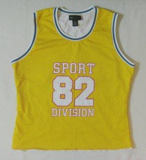 Cooles Vintage TRÄGER-TOP, Sportshirt, Tank-Top von H&M LOGG Sport in gelb, Größe Medium/DE 38