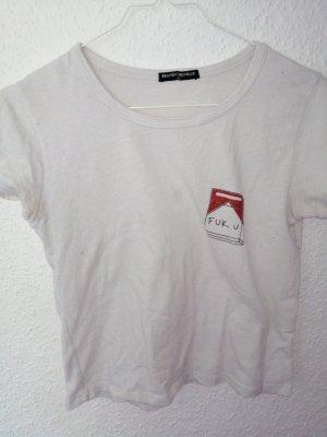 Cooles Weißes Shirt mit Aufdruck