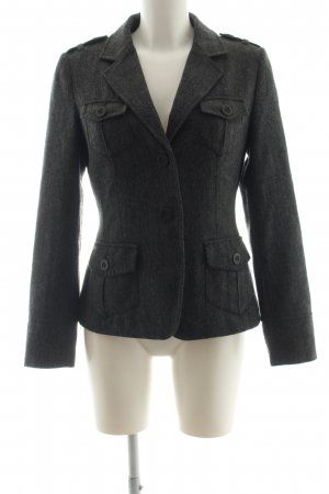 Coolwater Kurz-Blazer schwarz meliert Business-Look