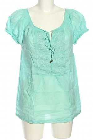 Coolwater Kurzarm-Bluse türkis Casual-Look