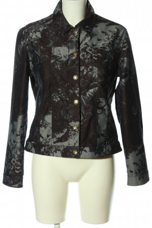Coolwater Short Jacket brown-light grey abstract pattern casual look