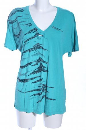 Coolwater T-Shirt türkis abstraktes Muster Casual-Look