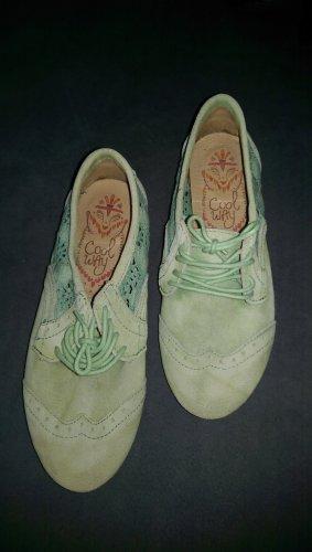 Coolway Halbschuhe sneaker grün Wildleder 37