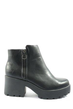 Coolway Reißverschluss-Stiefeletten schwarz Casual-Look