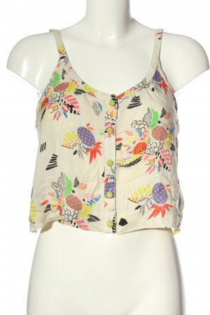 Cooperative Cropped Top Allover-Druck Casual-Look