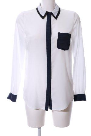 Cooperative Hemd-Bluse weiß-schwarz Business-Look