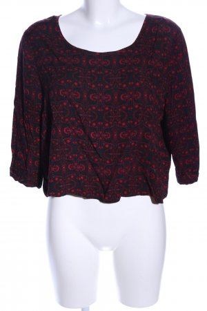 Cooperative Kurzarm-Bluse Allover-Druck Casual-Look