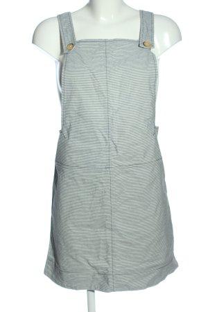Cooperative Salopette-jupe bleu-blanc motif rayé style décontracté