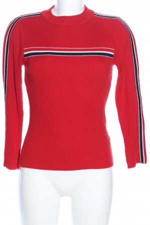 Cooperative Longsleeve red striped pattern casual look