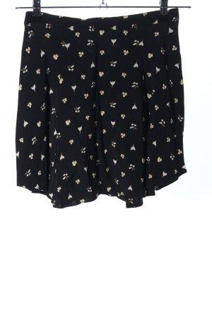 Cooperative Minirock schwarz-wollweiß Blumenmuster Casual-Look