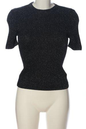 Cooperative Strickshirt schwarz-weiß meliert Casual-Look
