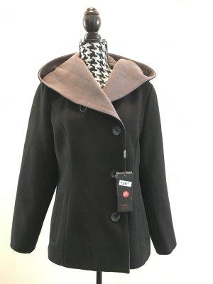 Cootic Wolljacke Winterjacke Jacke grau schwarz Gr. XXXL, Gr. 44/46 Neu mit Etikett