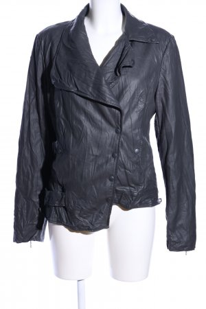 Cop Copine Faux Leather Jacket light grey casual look