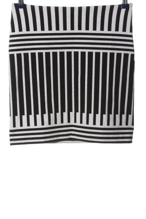 Cop Copine Miniskirt black-white striped pattern casual look
