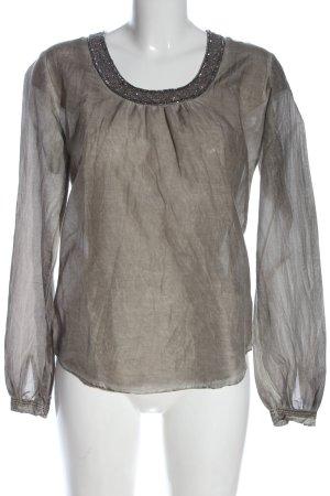 Copenhagen Luxe Long Sleeve Blouse light grey elegant