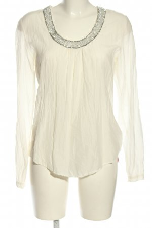Copenhagen Luxe Slip-over Blouse natural white-silver-colored casual look