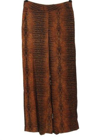 copenhagen muse Spodnie z wysokim stanem jasny pomarańczowy-czarny