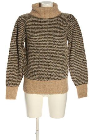 copenhagen muse Knitted Sweater nude-black striped pattern casual look