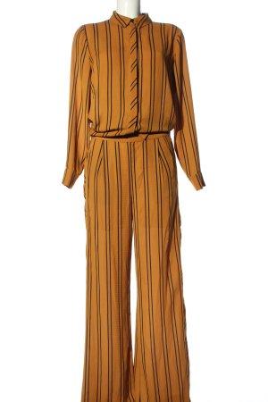copenhagen muse Woven Twin Set light orange-black striped pattern casual look