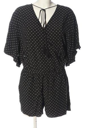 copo de nieve Kurzer Jumpsuit black-white allover print casual look