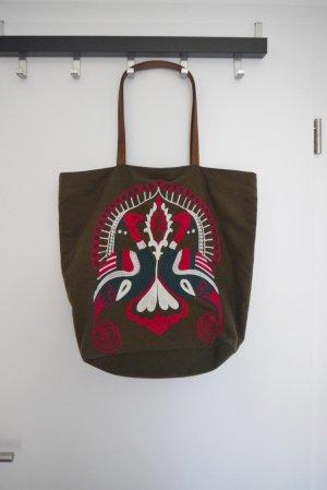 Copo de Nieve Tasche Shopper Canvas + Lederriemen 1x getragen