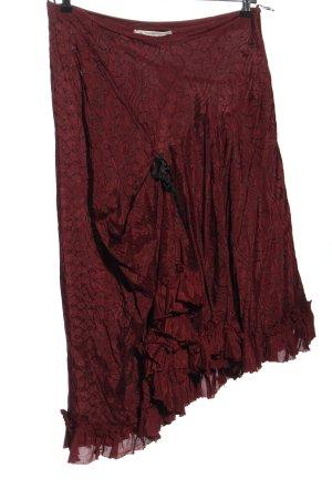 Corakempermann Asymmetrische rok rood-zwart volledige print elegant