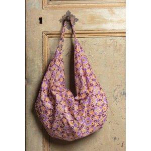 Coral/Purple Cotton Bag/Tasche - Geräumig - Flower!