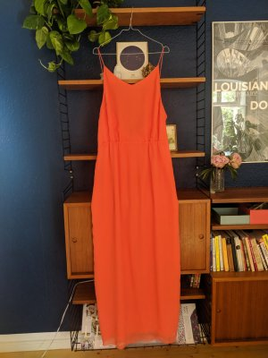 Coral Sexy Maxi Summer Dress