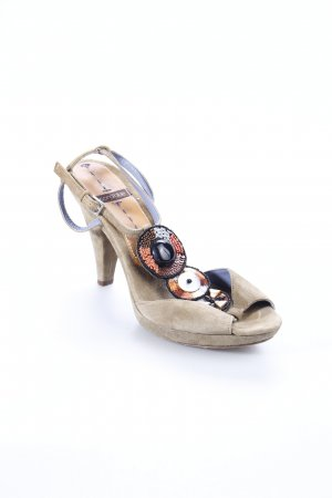 Coralblue High Heel Sandal light brown Sequin ornaments