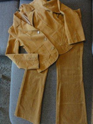 H&M Tailleur pantalone color cammello Cotone