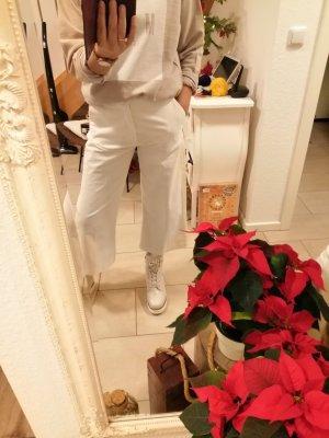 Marco Polo Pantalón de pana blanco puro
