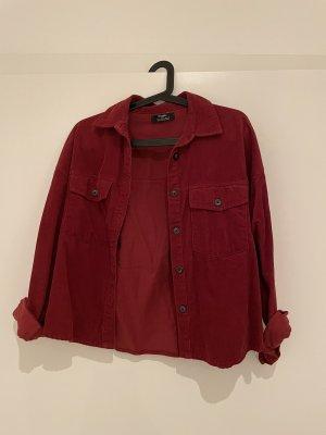 Bershka Shirt met lange mouwen donkerrood-rood