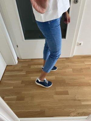 Nine in the morning Pantalon en velours côtelé bleuet