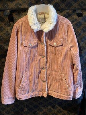 Cord Jacke Überhemd Overshirt jacket mit fur