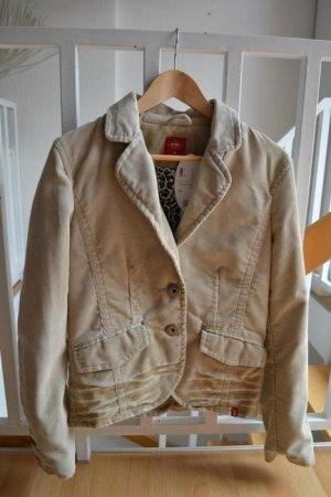 Cord-Kombination / Anzug - Blazer + Rock beige edc by Esprit Gr. 38/M NEU